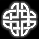 Отражатель КЕЛЬТСКИЙ УЗЕЛ термонаклейка (утюгом)