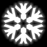 Отражатель СНЕЖИНКА термонаклейка (утюгом)