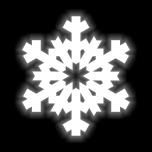 Silitettävä heijastin LUMIHIUTALE 50x55mm