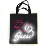 """Закупочная сумка с цветной и светоотражающей надписью """"My Other Bags are GUESS"""""""