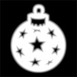 Отражатель ЁЛОЧНАЯ ИГРУШКА термонаклейка (утюгом)