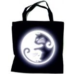 """Закупочная сумка с отражателем и орнаментом """"КОШКИ YIN-YANG"""""""